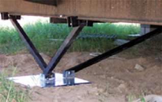 Advantages of mobile home permanent foundation in dallas for Steel piers for house